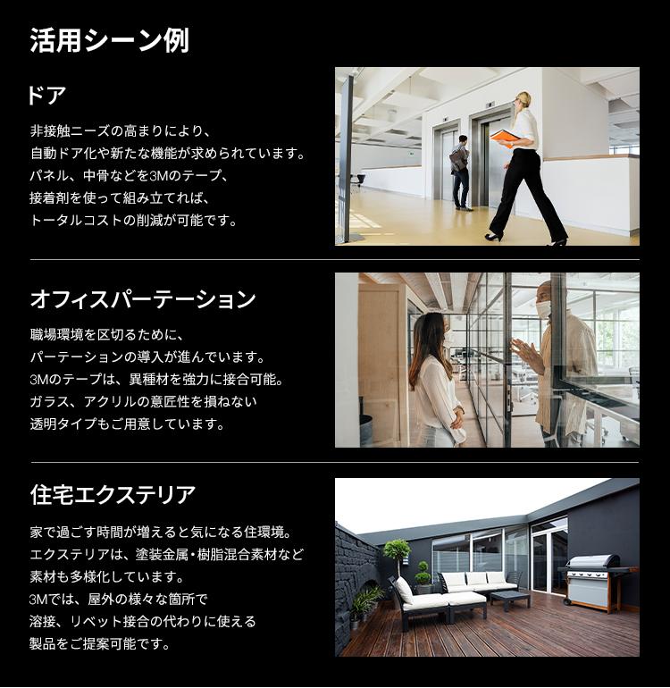 活用シーン例/ドア/オフィスパーテーション/住宅エクステリア