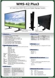 デジタルサイネージ向け42インチ液晶一体型タッチパネルPC『WMS-42 Plus3』 表紙画像