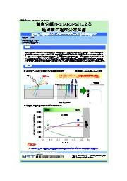 【分析事例】角度分解XPS(ARXPS)による極薄膜の組成分布評価 表紙画像