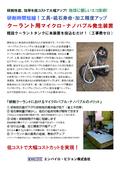 『クーラント用マイクロ・ナノバブル発生装置』