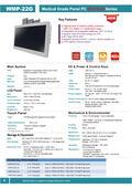 医療用の抗菌プラスチック筐体ファンレス21.5型フルHD版Intel第7世代Core-i搭載タッチパネルPC『WMP-22G』 表紙画像