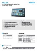産業用ファンレスタッチパネルPC Arestech PPC-216 製品カタログ