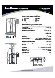 サニタリー ドラムアンローダー(ピストンポンプ式) SPTSU5DBNIW 表紙画像