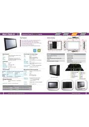 21.5型フルHD第5世代Core-i5 CPU搭載の高性能ファンレス・タッチパネルPC『WLP-7D20-21』 表紙画像