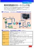 Zeta Plus(TM) 活性炭吸着デプスフィルター「粉末活性炭のカートリッジ化」 表紙画像