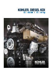 【英語版】KOHLER社 エンジン KDI 55-105kW 表紙画像