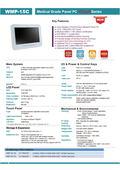 医療用の抗菌プラスチック筐体ファンレス15インチ・ワイド液晶一体型Intel第6世代CPU版タッチパネルPC『WMP-15C』 表紙画像