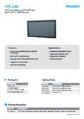 産業用ファンレスタッチパネルPC Arestech PPC-186 製品カタログ