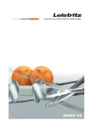エクストルーダー「nano-16」カタログ 表紙画像
