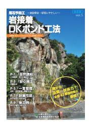 落石予防工『岩接着DKボンド工法』 表紙画像