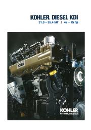【英語版】KOHLER社 エンジン KDI 31-55kW 表紙画像