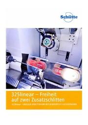 高精度5軸CNC万能工具研削盤 325Lシリーズ 【シュッテ社製】 表紙画像