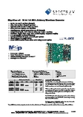 M2p.65xx-x4 - 16bit 125MS/s Arbitrary Waveform Generator データシート