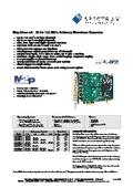 M2p.65xx-x4 - 16bit 125MS/s Arbitrary Waveform Generator データシート 表紙画像