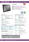 21.5型フルHD液晶で第6世代Core-i5 CPU搭載の高性能ファンレス・タッチパネルPC『WLP-7F20-22』 表紙画像