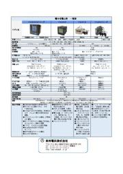 電子式電力計 一覧表 表紙画像