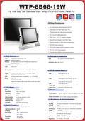 完全防塵・防水ファンレス・19型ATOM E3845(4-core)タッチパネルPC高範囲温度版『WTP-8B66-19W』 表紙画像