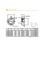 TWIN FU-NUT 寸法表 表紙画像