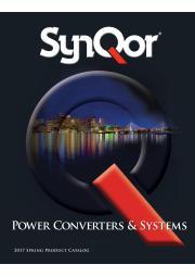 SynQor DC-DC・AC-DCコンバータ/ミリタリー電源装置(UPS、パワーコンディショナ、VPX電源) 総合カタログ 表紙画像