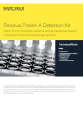 Technical Note「Residual Protein A Detection Kit」 表紙画像