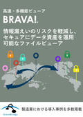 【事例資料進呈】情報漏洩対策ソフトウェア『Brava』 表紙画像