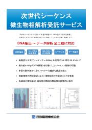 微生物解析『次世代シーケンス微生物相解析』 表紙画像