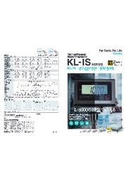 クボタ本質安全防爆型電池式デジタル台はかり KL-ISシリーズ 表紙画像