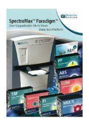 プレートリーダー『SpectraMax Paradigm』 表紙画像