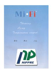 Mi・Fi解凍熟成庫 製品カタログ 表紙画像
