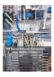『小型丸型防水コネクタM8シリーズ』※UL認証取得品 表紙画像