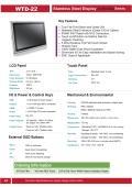 IP66完全防塵・防水ステンレス筐体の21.5型フルHD版タッチパネル付き液晶ディスプレイ『WTD-22』 表紙画像