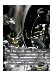 英語版総合カタログ『丸型防水コネクタM23シリーズ』 表紙画像