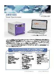 小型質量分析装置『AMS1000 Smart Spectrometer』 表紙画像