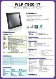 低価格ファンレス・17型ATOM-D525版タッチパネルPC『WLP-7920-17』 表紙画像