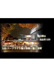 自由な表現が可能!高品質LEDテープライトの施工事例無料進呈! 表紙画像