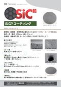 SiC3コーティング グラファイト部品 表紙画像