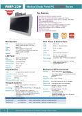 医療用の抗菌プラスチック筐体21.5型フルHD版Intel第7世代Core-i搭載タッチパネルPC『WMP-22H』 表紙画像