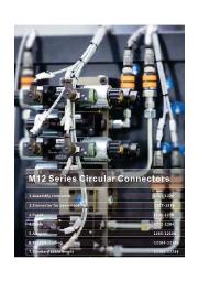 『小型丸型防水コネクタM12シリーズ』※UL認証取得品 表紙画像