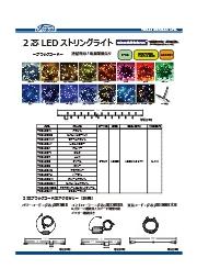 LEDイルミネーション2芯100球LEDストリングライトのライトアップで大阪を緑の街に!2芯は点滅可能で交互点滅は不可 表紙画像