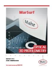 光学式 3D表面形状測定機_MarSurf CP/CL【製品カタログ】 表紙画像
