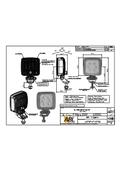 図面SL1000作業灯強化プラスチックレンズ