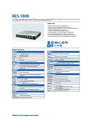 Vecow社 インテルベース防水ファンレスPC RES-1000 表紙画像