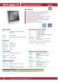 完全防塵・防水ファンレス・10型Celeron J1900(Quad Core)版タッチパネルPC『WTP-8B66-10』 表紙画像
