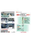 元旦折板屋根の機能を高める「元旦トップライト/点検口」
