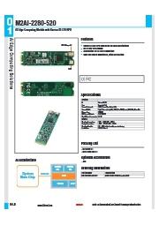 AIアクセラレータボードKL520搭載M2AI-2280-520 表紙画像