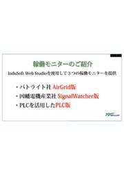 設備稼働監視システム(見える化から原因分析)『InduMonitor』 のスライドショー InduSoft 表紙画像