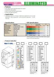 PB61711RFL シリーズ、照光式タクト スイッチ 表紙画像