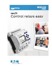easyE4 コントロールリレー 製品カタログ 表紙画像