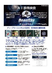 ディープラーニング画像検査『DeepSky(ディープスカイ)』 表紙画像