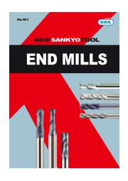 NEW KKK(新三協工具)エンドミル『NORMAL-GS』HRC45までの炭素鋼、合金鋼、鋳鋼、鋳鉄用カタログ  表紙画像